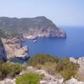 Vistas de los acantilados y el mar de Na-Xamena, Ibiza
