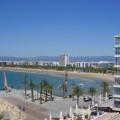 Acantilados de Salou, con vista panorámica de la playa de Levante